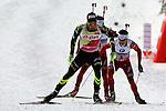 IBU Biathlon World Cup<br /> &copy; Pierre Teyssot <br />  Martin Fourcade (FRA) in action during the IBU Biathlon World Cup