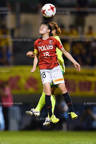Hanae Shibata (Reds Ladies), <br /> AUGUST 12, 2017 - Football / Soccer : <br /> Plenus Nadeshiko League Cup 2017 Division 1 <br /> Final match between JEF United Ichihara Chiba Ladies 1-0 Urawa Reds Ladies<br /> at Nishigaoka Soccer Stadium in Tokyo, Japan. <br /> (Photo by MATSUO.K/AFLO)