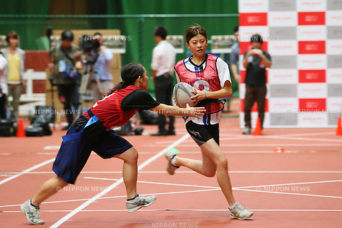 Yuki Wakita, <br /> SEPTEMBER 14, 2013 : <br /> National talent identification and development project <br /> First shot &quot;Tall x Speed x Women&quot; <br /> at JISS, Tokyo, Japan. <br /> (Photo by YUTAKA/AFLO SPORT) [1040]