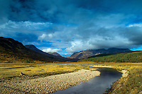 The River Coulin and the mountains of Torridon, Coulin Forest, Ross & Cromarty, Northwest Highlands