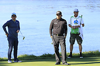 Paul Casey (ENG) and Phil Mickelson (USA) at the 5th green during Sunday's Final Round of the 2018 AT&amp;T Pebble Beach Pro-Am, held on Pebble Beach Golf Course, Monterey,  California, USA. 11th February 2018.<br /> Picture: Eoin Clarke | Golffile<br /> <br /> <br /> All photos usage must carry mandatory copyright credit (&copy; Golffile | Eoin Clarke)