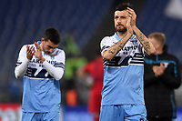 Francesco Acerbi of Lazio greets supporters at the end of the Serie A 2018/2019 football match between Lazio and Empoli at stadio Olimpico, Roma, February 7, 2019 <br />  Foto Andrea Staccioli / Insidefoto