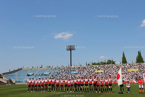 Rugby Japan National Team Group (JPN), .May 4, 2013 - Rugby : .HSBC Asian 5 Nations 2013 .match between Japan 64-5 South Korea .at Chichibunomiya Rugby Stadium, Tokyo, Japan. .(Photo by Daiju Kitamura/AFLO SPORT)