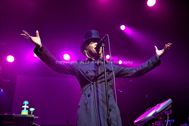 Erykah Badu live concert at Verizon Theatre on June 14, 2010 in Grand Prairie, TX.