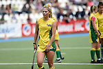 GER - Mannheim, Germany, May 24: During the U16 Girls match between Australia (green) and Germany (white) during the international witsun tournament on May 24, 2015 at Mannheimer HC in Mannheim, Germany. Final score 0-6 (0-3). (Photo by Dirk Markgraf / www.265-images.com) *** Local caption *** Alice Arnott #6 of Australia
