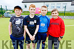 Attending the Donal Walsh 6k walk at the Spa NS on Sunday. L to r: Sean Daly (Kerries), Aaron Harty, Jack O'Dwyer and Ben O'Leary