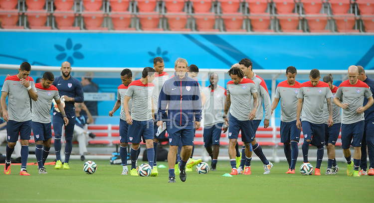 Manaus, Brazil - Saturday, June 21, 2014: The USMNT trains before it's match with Portugal in the 2014 World Cup at Arena Amazonia.