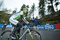 Ivan Basso (ITA/Cannondale)in the last km up to the Val Martello finish (2059m)<br /> <br /> <br /> 2014 Giro d'Italia <br /> stage 16: Ponte di Legno - Val Martello (139km)