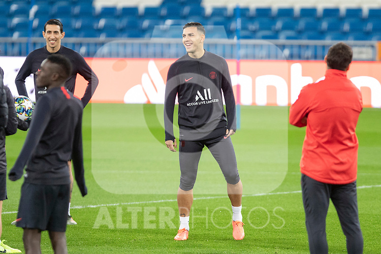 PSG's Players Di Maria and Mauro Icardi  during training session. <br /> November 25 ,2019.<br /> (ALTERPHOTOS/David Jar)