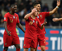 William Carvalho, Mario Rui and Andre Silva of Portugal react during the Nations League League A group 3 football match between Italy and Portugal at stadio Giuseppe Meazza, Milano, November, 17, 2018 <br /> Foto Andrea Staccioli / Insidefoto