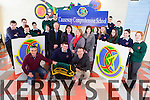 Causeway Comprehensive school are planning their first ever night at the dogs on March 27th at the Kingdom Greyhound Stadium. Staff pictured with students were Johnny Griffin, Sean Regan, Declan Dowling (Manager KGS), Pat Lawlor, Anne Maris Hassett, Sheila Scanlon and Marguerite O'Mahony.
