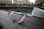 On the 10th anniversary of the September 11th attacks, the North Memorial Pool at opening day of the September 11th Memorial at the World Trade Center site in New York, New York on Sunday, September 11, 2011..Credit: Jefferson Siegel / Pool via CNP