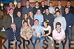 30TH CELEBRATIONS: Michael Hobbert, Listellick, Tralee, seated centre, having a great time with friends and family at his 30th birthday party held in the Ballymac Bar on Saturday night.   Copyright Kerry's Eye 2008