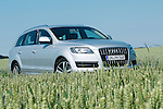 Audi Q7 in a wheat field near Ingolstadt, Germany.