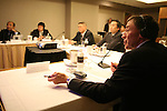 CHICAGO, SEPTEMBER 18, 2007 : YOSHIO TAKESUE, KAZUHIKO NAKAJIMA, HIROSHIGE MIKAMO, SHINYA KUSACHI listen to a presentation-lecture by JOHN WEIGELT