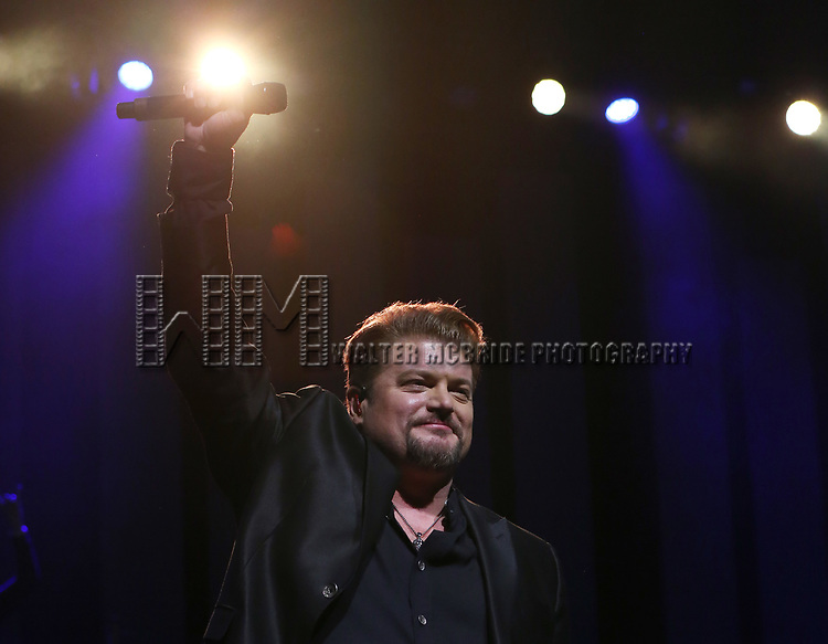 """Bob Evan during the Broadway Opening Night Performance Curtain Call of  """"Rocktopia"""" at The Broadway Theatre on March 27, 2018 in New York City."""