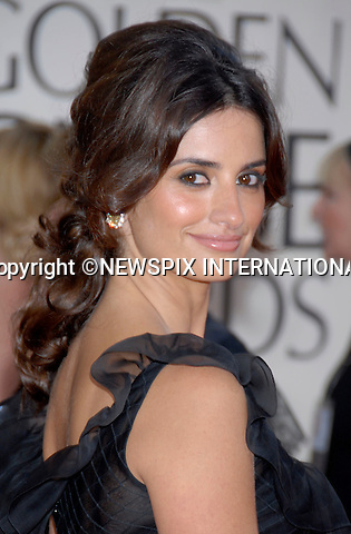 """PENLOPE CRUZ MARRIES JAVIER BARDEM.It has been confirmed that the couple have tied the knot in a private ceremony in the Bahamas last week...PENELOPE CRUZ.The 64th Annual Golden Globes awards for motion pictures and television are hosted by the Hollywood Foreign Press Association were hels at the Beverly Hilton, Los Angeles..The event is closely watched as a pointer to possible OSCAR success_15/01/2007.Mandatory Photo Credit:© DIAS-NEWSPIX INTERNATIONAL(Failure to credit will incur a surcharge of 100% of reproduction fees)..**ALL FEES PAYABLE TO: """"NEWSPIX INTERNATIONAL""""**..IMMEDIATE CONFIRMATION OF USAGE REQUIRED:.Newspix International, 31 Chinnery Hill, Bishop's Stortford, ENGLAND CM23 3PS.Tel: +441279 324672  ; Fax: +441279656877.Mobile:  07775681153.e-mail: photos@newspixinternational.co.uk"""