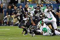 1 September 2011:  FIU wide receiver T.Y. Hilton (4) breaks into the North Texas secondary in the first half as the FIU Golden Panthers defeated the University of North Texas, 41-16, at FIU Stadium in Miami, Florida.