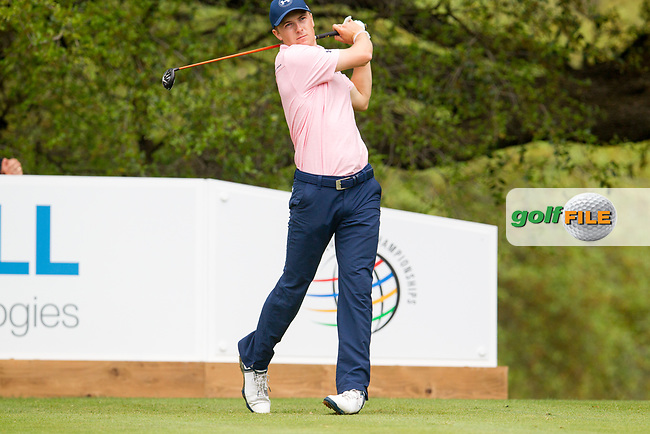 Jordan Spieth (USA) on the 10th during the 3rd round at the WGC Dell Technologies Matchplay championship, Austin Country Club, Austin, Texas, USA. 24/03/2017.<br /> Picture: Golffile | Fran Caffrey<br /> <br /> <br /> All photo usage must carry mandatory copyright credit (&copy; Golffile | Fran Caffrey)