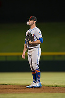 Scottsdale Scorpions first baseman Peter Alonso (20), of the New York Mets organization, during an Arizona Fall League game against the Mesa Solar Sox at Sloan Park on October 10, 2018 in Mesa, Arizona. Scottsdale defeated Mesa 10-3. (Zachary Lucy/Four Seam Images)