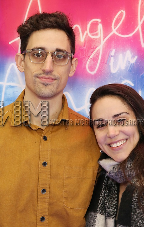 """Justin Peck and Tiler Peck attends the Broadway Opening Night Arrivals for """"Angels In America"""" - Part One and Part Two at the Neil Simon Theatre on March 25, 2018 in New York City."""
