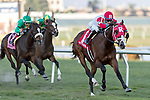 HALLANDALE BEACH, FL - December 30: #1 Daring Duchess wins the $75,000 Via Borghese Stakes for trainer Michael J. Maker with jockey Jose L. Ortiz on board at Gulfstream Park on December  30, 2017, Hallandale Beach, FL (Photo by Bob Aaron/Eclipse Sportswire/Getty  Images)
