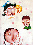 Illustration of children suffering from chicken pox