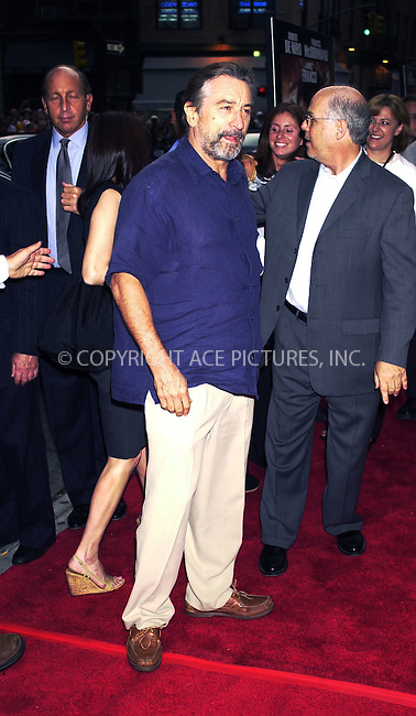 "Robert de Niro at the premiere of ""City by the Sea"" in New York. August 26, 2002. REF: PVUS2067. Please byline: Peter Vail/NY Photo Press.   ..*PAY-PER-USE*      ....NY Photo Press:  ..phone (646) 267-6913;   ..e-mail: info@nyphotopress.com"