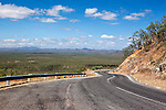 View along Peninsula Development Road at Desailly Range lookout, near Cooktown, Queensland, Australia