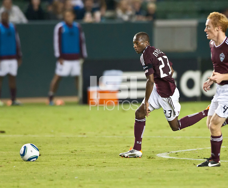 CARSON, CA – September 9, 2011: Colorado Rapid midfielder Sanna Nyassi (23) during the match between LA Galaxy and Colorado Rapids at the Home Depot Center in Carson, California. Final score LA Galaxy 1, Colorado Rapids 0.