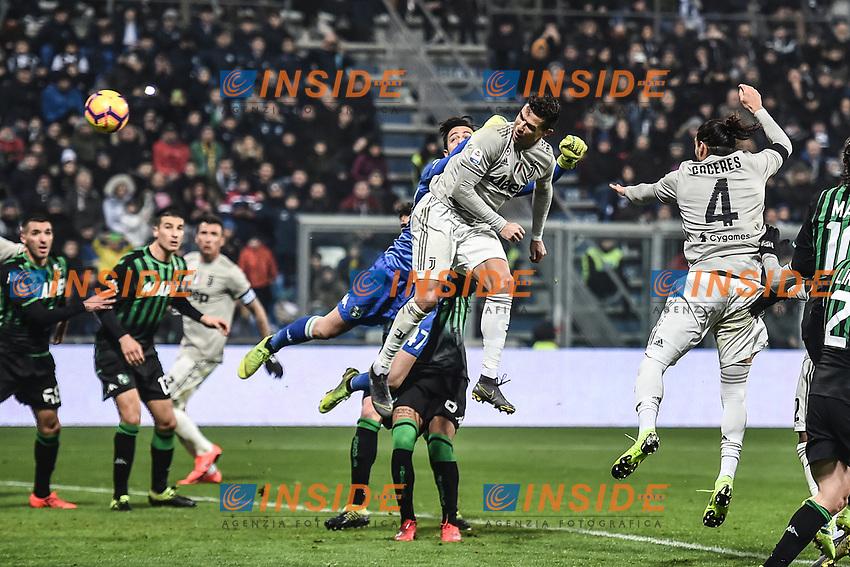Cristiano Ronaldo Juventus scores a goal.<br /> Reggio Emilia 10-2-2019 Stadio Mapei, Football Serie A 2018/2019 Sassuolo - Juventus<br /> Foto Andrea Staccioli / Insidefoto