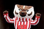 MADISON, WI - OCTOBER 22: Mascot Bucky Badger of the Wisconsin Badgers cheers against the Purdue Boilermakers at Camp Randall Stadium on October 22, 2005 in Madison, Wisconsin. The Badgers beat the Hoosiers 31-20. Photo by David Stluka.
