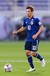 Takashi Inui of Japan in action during the AFC Asian Cup UAE 2019 Group F match between Japan (JPN) and Uzbekistan (UZB) at Khalifa Bin Zayed Stadium on 17 January 2019 in Al Ain, United Arab Emirates. Photo by Marcio Rodrigo Machado / Power Sport Images