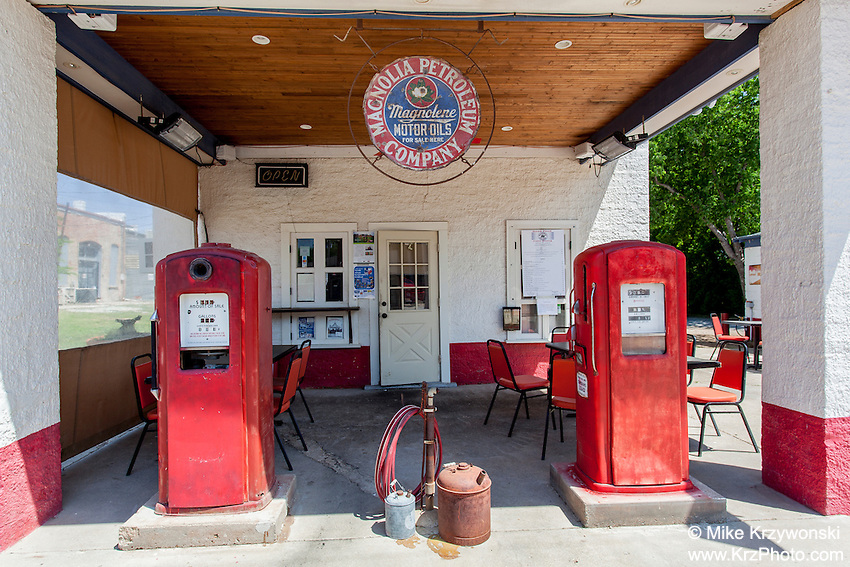 Historic gas station in Pilot Point, TX
