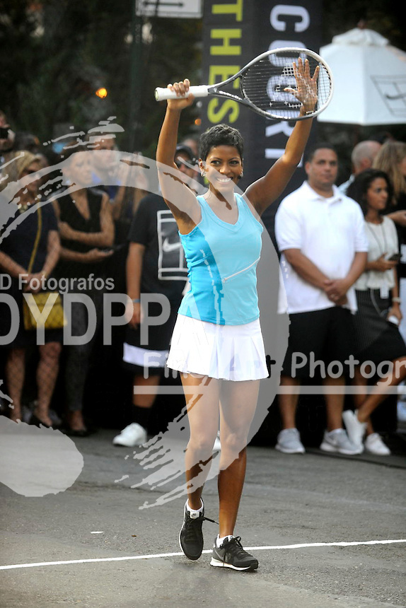 Tamron Hall attending Nike's 'NYC Street Tennis' event on August 24, 2015 in New York City