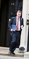 LONDON, UNITED KINGDOM - NOVEMBER 06: Lord Chancellor and Secretary of State for Justice David Gauke leaves after a Cabinet meeting at 10 Downing Street in central London. November 06, 2018 in London, England.<br /> CAP/GOL<br /> &copy;GOL/Capital Pictures