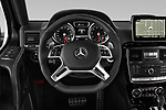 Car pictures of steering wheel view of a 2018 Mercedes Benz G-Class G550 5 Door SUV