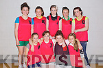 Pictured at the Futsal Indoor Soccer Competition at Mounthawk on Thursday is the Causeway Comprehensive team, front row l-r: Eilish Harrington, Colette Foley, Ciara Shannon, Chloe Davis. Back row l-r: Rhinnon Sheehy, Olivia Stack, Ciara Anderson, Erin Rowan, Eileen Spillane.