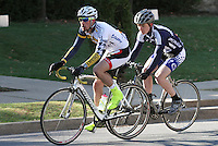 Drexel's Andrew Keenan and Penn State's Matt Mackenzie, during the Men's D Criterium race at the Nittany Cycling Classic hosted by Penn State Cycling in State College, Pa., on April 20, 2014. Photo/©2014 Craig Houtz