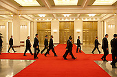 Beijing, China - November 17, 2009 -- United States President Barack Obama and others walk through the Great Hall of the People after attending a state dinner in Beijing, China, Tuesday, November 17, 2009. .Mandatory Credit: Pete Souza - White House via CNP