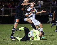 The Winthrop University Eagles lose 2-1 in a Big South contest against the Campbell University Camels.  Ethan Hall (1), Michael Wisniewski (c18), Max Hasenstab (18)