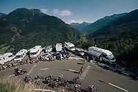 up the final climb of the day (in Spain!): the Col du Portillon (Cat1/1292m)<br /> <br /> Stage 16: Carcassonne &gt; Bagn&egrave;res-de-Luchon (218km)<br /> <br /> 105th Tour de France 2018<br /> &copy;kramon