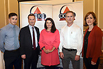 Pictured at an OCKT Chartered Accountants Budget Highlights Briefing in The Malton Hotel, Killarney on Wednesday were from left, Paul Murphy, OCKT, Michael Coghlan, Margaret O'Connor, Pat Eviston and Clare Leahy.<br /> Photo: Don MacMonagle<br /> <br /> repro free photo