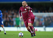 30th September 2017, Stamford Bridge, London, England; EPL Premier League football, Chelsea versus Manchester City; David Silva of Manchester City in action