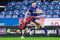 Picture by Alex Whitehead/SWpix.com - 08/02/2018 - Rugby League - Betfred Super League - Huddersfield Giants v Warrington Wolves - John Smith's Stadium, Huddersfield, England - Warrington's Ben Currie is tackled by Huddersfield's Danny Brough.