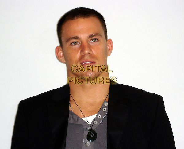 """CHANNING TATUM                               .""""Step Up"""" Press Conference, held in the Palm Room at the Four Seasons Hotel, Beverly Hills, Califronia, USA,.July 13th 2006..portrait headshot.Ref: AW.www.capitalpictures.com.sales@capitalpictures.com.©Anita Weber/Capital Pictures."""