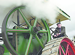 Under a cloud of hot steam Jackie Healy-Rae drives Billy Mason's steam harvester at the annual Olde Machinery Rally in Killarney on Easter Sunday. Thousands of people flocked to Killarney to see vintage tractors, cars, farm machinery, steam engines and memorabilia from the past..Picture by Don MacMonagle Jackie Healy-Rae, TD from the book by Don MacMonagle entitled 'Jackie - Keeping Up Appearances' published in 2002.