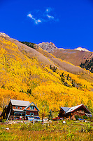 Autumn color, San Juan Mountains, Ophir (near Telluride), Colorado USA.