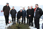 Fr. Nulty, Principal of St.Mary's Congress Avenue, John Weir, Bishop of Meath, Michael Smith, Principal of Fatima, Phillip Ward, Fr. Jo Campbell, Franks Maher and Richie Culhane at the Turning of the First Sod on the Site of the new school on the Bryanstown Crossroute...(Photo credit should read Jenny Matthews www.newsfile.ie)....This Picture has been sent you under the conditions enclosed by:.Newsfile Ltd..The Studio,.Millmount Abbey,.Drogheda,.Co Meath..Ireland..Tel: +353(0)41-9871240.Fax: +353(0)41-9871260.GSM: +353(0)86-2500958.email: pictures@newsfile.ie.www.newsfile.ie.