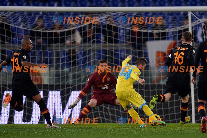 Dries Mertens gol Napoli 2-2 Goal celebration <br /> Roma 05-02-2014 Stadio Olimpico - Football Calcio Coppa Italia 2013/2014 AS Roma - Napoli Foto Andrea Staccioli / Insidefoto